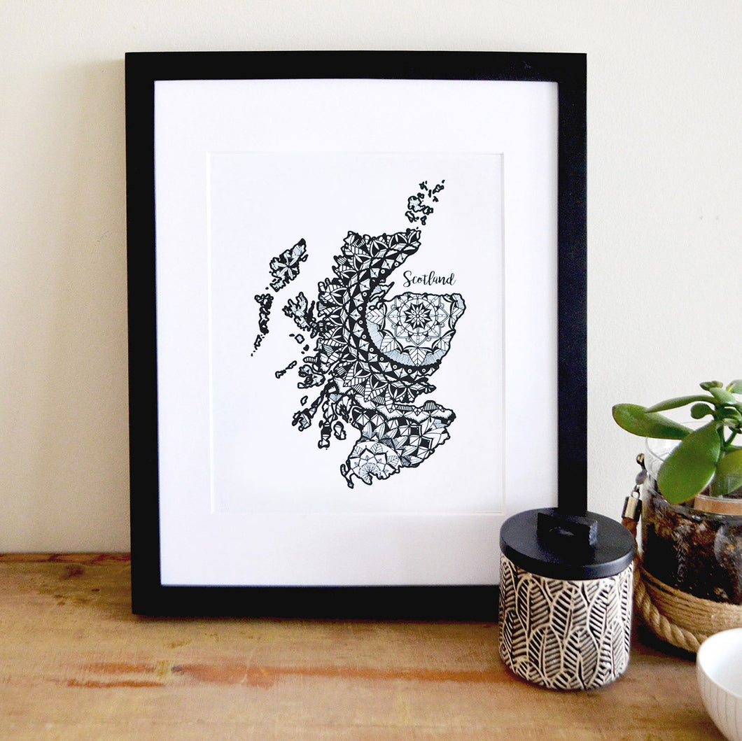 Map of Scotland | Map Art | Travel Gift Ideas | Scotland City Map | Map Wall Art | Scotland Map