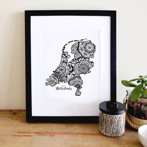 Map of Netherlands | Map Art | Travel Gift Ideas | Netherlands City Map | Map Wall Art | Netherlands Map