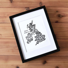 Load image into Gallery viewer, Map of UK | Map of England | Map Art | Travel Gift Ideas | UK City Map | Map Wall Art | United Kingdom Map | England Map