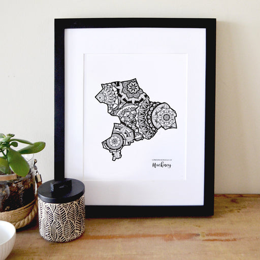 Map of London Borough of Hackney | Map of Hackney London | Map Art | Travel Gift Ideas | London Borough of Hackney City Map | Map Wall Art | London Borough of Hackney Map