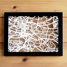 Load image into Gallery viewer, Map of Glasgow Scotland | Papercut Map Art | Travel Gift Ideas | Glasgow City Map | Map Wall Art | Glasgow Map | Scotland Map | Scotland Papercut City Maps