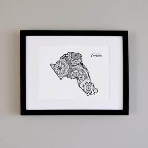 Map of London Borough of Camden | Map Art | Travel Gift Ideas | London Borough of Camden City Map | Map Wall Art | London Borough of Camden Map
