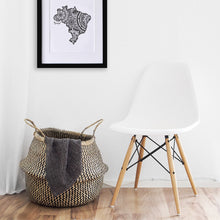 Load image into Gallery viewer, Map of Brazil | Map Art | Travel Gift Ideas | Brazil City Map | Map Wall Art | Brazil Map