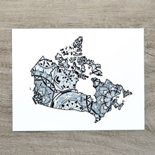 Load image into Gallery viewer, Map of Canada | Map Art | Travel Gift Ideas | Canada City Map | Map Wall Art | Canadian provinces of Canada