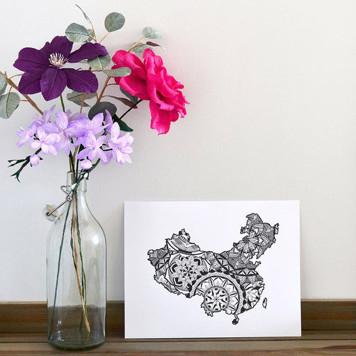 China mandala print home decor artwork