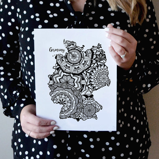 Germany Mandala Map Art Print