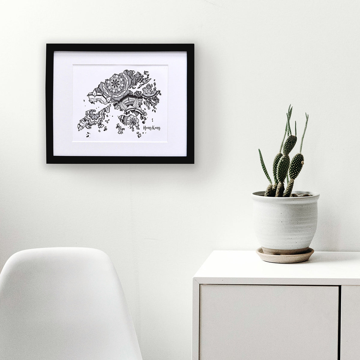 Map of Hong Kong | Map Art | Travel Gift Ideas | Hong Kong City Map | Map Wall Art | Hong Kong Map