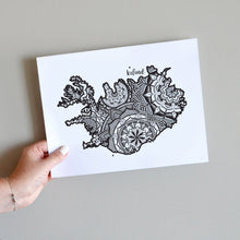 Load image into Gallery viewer, Map of Iceland | Map Art | Travel Gift Ideas | Iceland City Map | Map Wall Art | Iceland Map