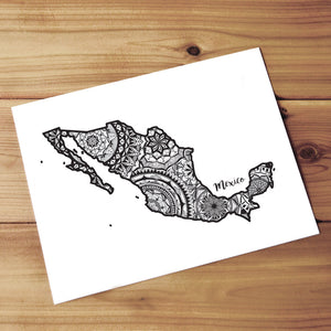 Map of Mexico | Map Art | Travel Gift Ideas | Mexico City Map | Map Wall Art | Mexico Map