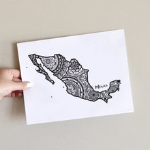 Load image into Gallery viewer, Map of Mexico | Map Art | Travel Gift Ideas | Mexico City Map | Map Wall Art | Mexico Map