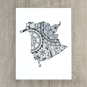 Map of New Brunswick Canada | Map Art | Travel Gift Ideas | New Brunswick City Map | Map Wall Art | Canadian provinces of Canada