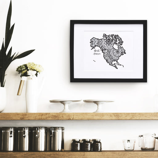 Map of North America | Map Art | Travel Gift Ideas | City Map | Map Wall Art | North America Map