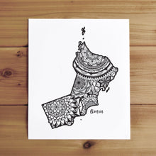 Load image into Gallery viewer, Map of Oman | Map Art | Travel Gift Ideas | Oman City Map | Map Wall Art | Oman Map