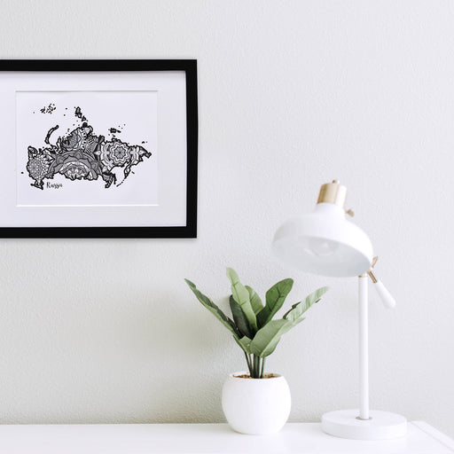 Map of Russia  | Map Art | Travel Gift Ideas | Russia  City Map | Map Wall Art | Russia Map