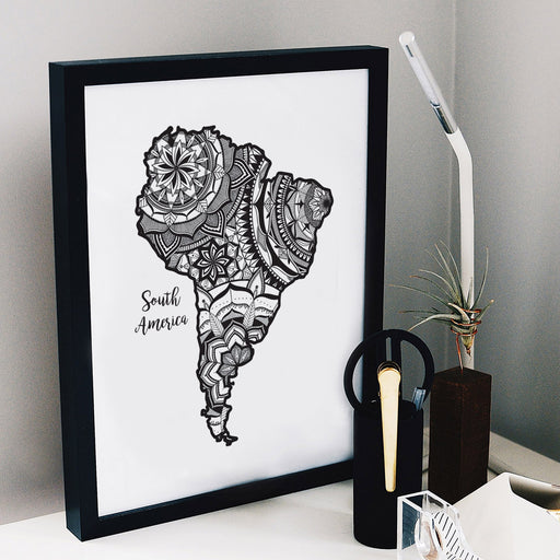 Map of South America | Map Art | Travel Gift Ideas | South America City Map | Map Wall Art | South America Map