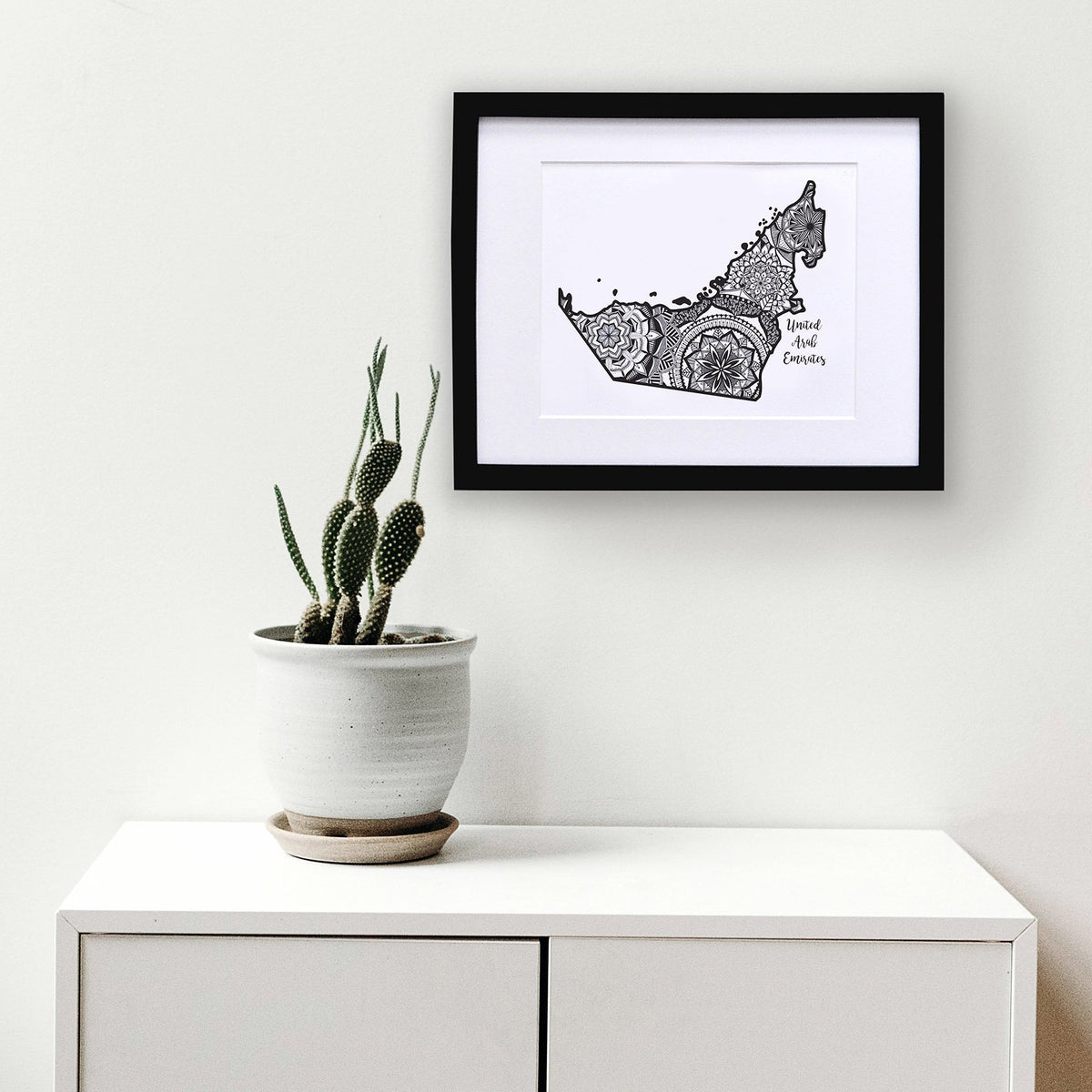 Map of UAE | Map Art | Travel Gift Ideas | UAE City Map | Map Wall Art | United Arab Emirates Map
