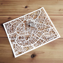 Load image into Gallery viewer, Map of Manchester England | Papercut Map Art | UK Travel Gift Ideas | Manchester City Map | Map Wall Art | Manchester Map | England Map | UK Papercut City Maps