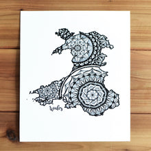 Load image into Gallery viewer, Map of Wales | Map Art | Travel Gift Ideas | Wales City Map | Map Wall Art | Wales Map