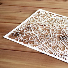 Load image into Gallery viewer, Map of Birmingham England | Papercut Map Art | UK Travel Gift Ideas | Birmingham City Map | Map Wall Art | Birmingham Map | England Map | UK Papercut City Maps
