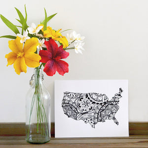 Map of USA | Map of America | Map Art | Travel Gift Ideas | USA City Map | Map Wall Art | USA Map | America Map