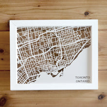 Load image into Gallery viewer, Toronto, Ontario, Canada Papercut Map Art