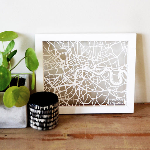 London United Kingdom Papercut Map Art
