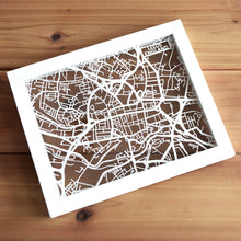 Load image into Gallery viewer, Map of Leeds England | Papercut Map Art | UK Travel Gift Ideas | Leeds City Map | Map Wall Art | Leeds Map | England Map | UK Papercut City Maps