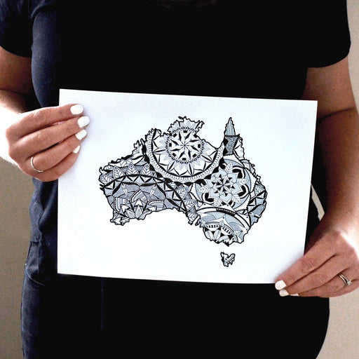 Map of Australia | Map Art | Travel Gift Ideas | Australia City Map | Map Wall Art | Australia Map