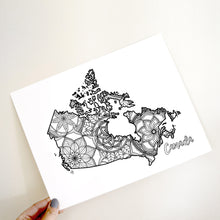 Load image into Gallery viewer, canada coloring pages | Coloring pages for adults | Coloring pages for kids | canada map coloring sheets | canada map coloring page | canadian provinces coloring page