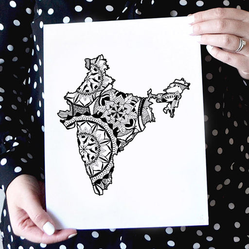 Map of India | Map Art | Travel Gift Ideas | India City Map | Map Wall Art | India Map
