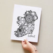 Load image into Gallery viewer, Ireland coloring pages | Coloring pages for adults | Coloring pages for kids | ireland map coloring sheets | ireland map | ireland map coloring sheets