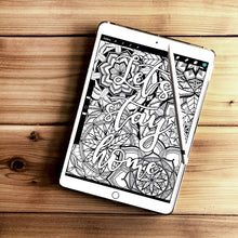 Load image into Gallery viewer, Free coloring pages | Coloring pages for adults | Coloring pages for kids | lets stay home