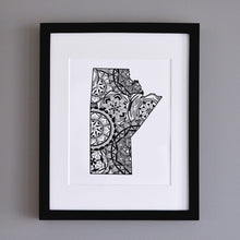 Load image into Gallery viewer, Map of Manitoba Canada | Map Art | Travel Gift Ideas | City Map | Map Wall Art | Canadian provinces of Canada