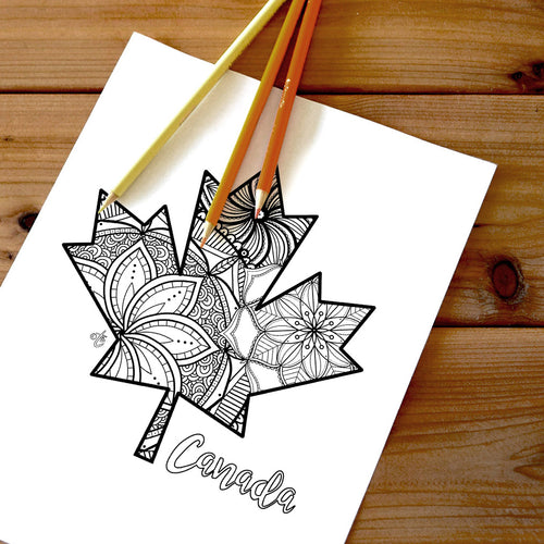 maple leaf canada coloring pages | Coloring pages for adults | Coloring pages for kids | canada map coloring sheets | maple leaf coloring page | canadian provinces coloring page