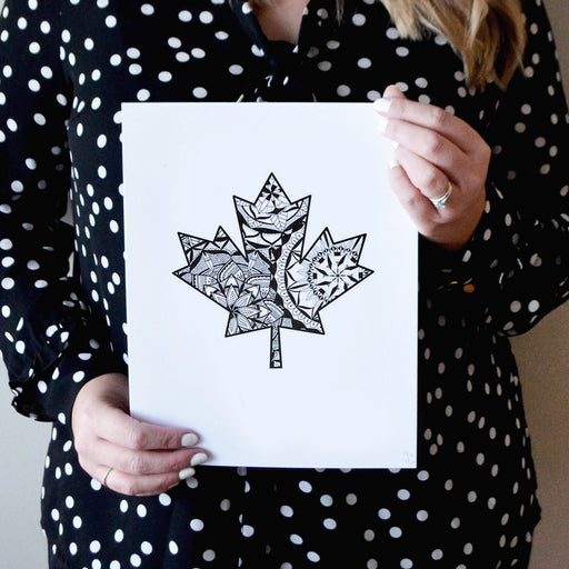 Maple Leaf Mandala - Print