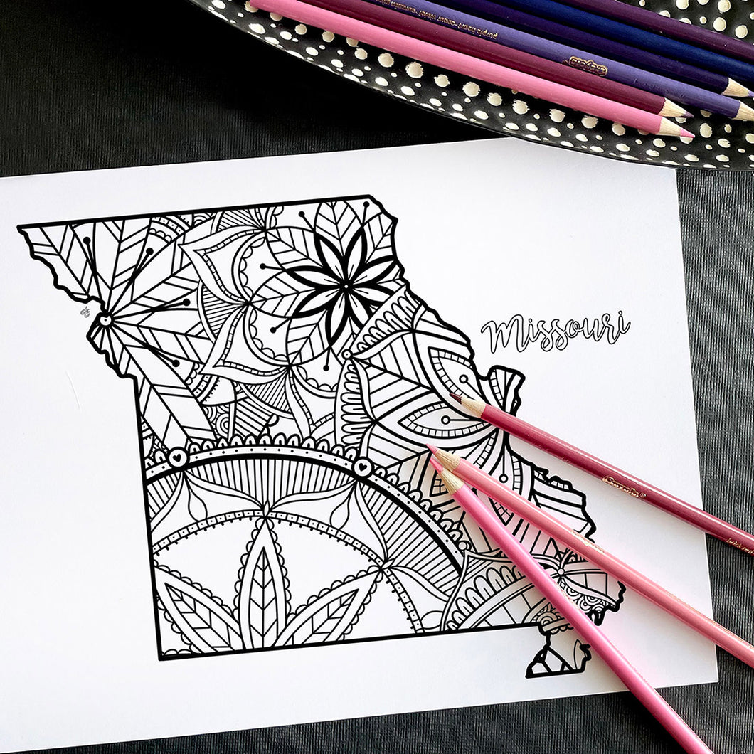 missouri usa coloring pages | state map coloring pages for adults | Coloring pages for kids | missouri usa map coloring sheets | state map coloring page | united states coloring page | united states of america | map of america