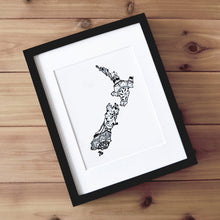 Load image into Gallery viewer, Map of New Zealand | Map Art | Travel Gift Ideas | New Zealand City Map | Map Wall Art | New Zealand Map