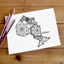 Load image into Gallery viewer, ontario canada coloring pages | Coloring pages for adults | Coloring pages for kids | canada map coloring sheets | ontario map coloring page | canadian provinces coloring page
