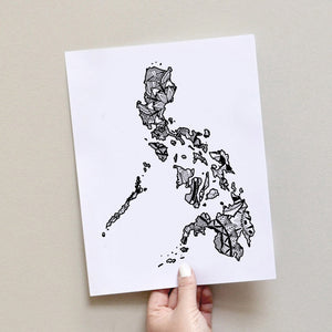 Map of Philippines | Map Art | Travel Gift Ideas | Philippines City Map | Map Wall Art | Philippines Map