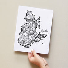 Load image into Gallery viewer, quebec canada coloring pages | Coloring pages for adults | Coloring pages for kids | canada map coloring sheets | quebec map coloring page | canadian provinces coloring page
