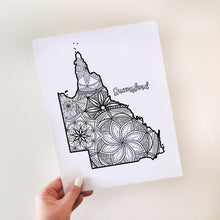 Load image into Gallery viewer, Coloring Pages | Queensland Australia Map