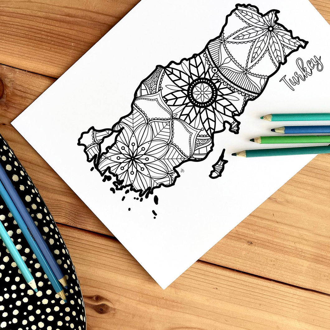 turkey coloring pages | Coloring pages for adults | Coloring pages for kids | turkey map coloring sheets | turkey map coloring page | turkey coloring page