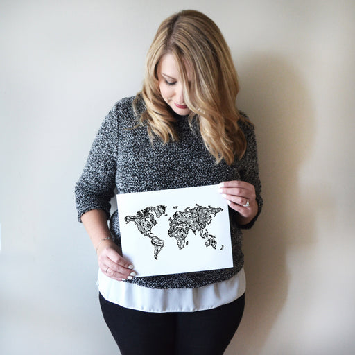 Map of the World | Map Art | Travel Gift Ideas | World City Map | Map Wall Art | World Map