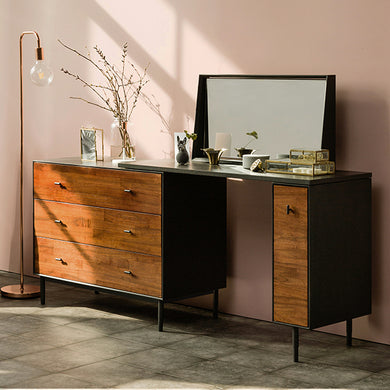 Tyme (천천히해) Extendable Wide 3-Drawer Chest Set w/ Mirror