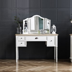 【PRE-ORDER】 My Signature Parisienne (파리지엔느) Console Desk w/ Standing Mirror (Cream)