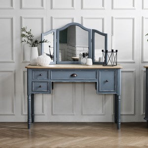 【PRE-ORDER】 My Signature Parisienne (파리지엔느) Console Desk w/ Standing Mirror (Mint)