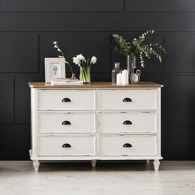 【PRE-ORDER】 My Signature Parisienne (파리지엔느) 6-Drawer Chest (Cream)