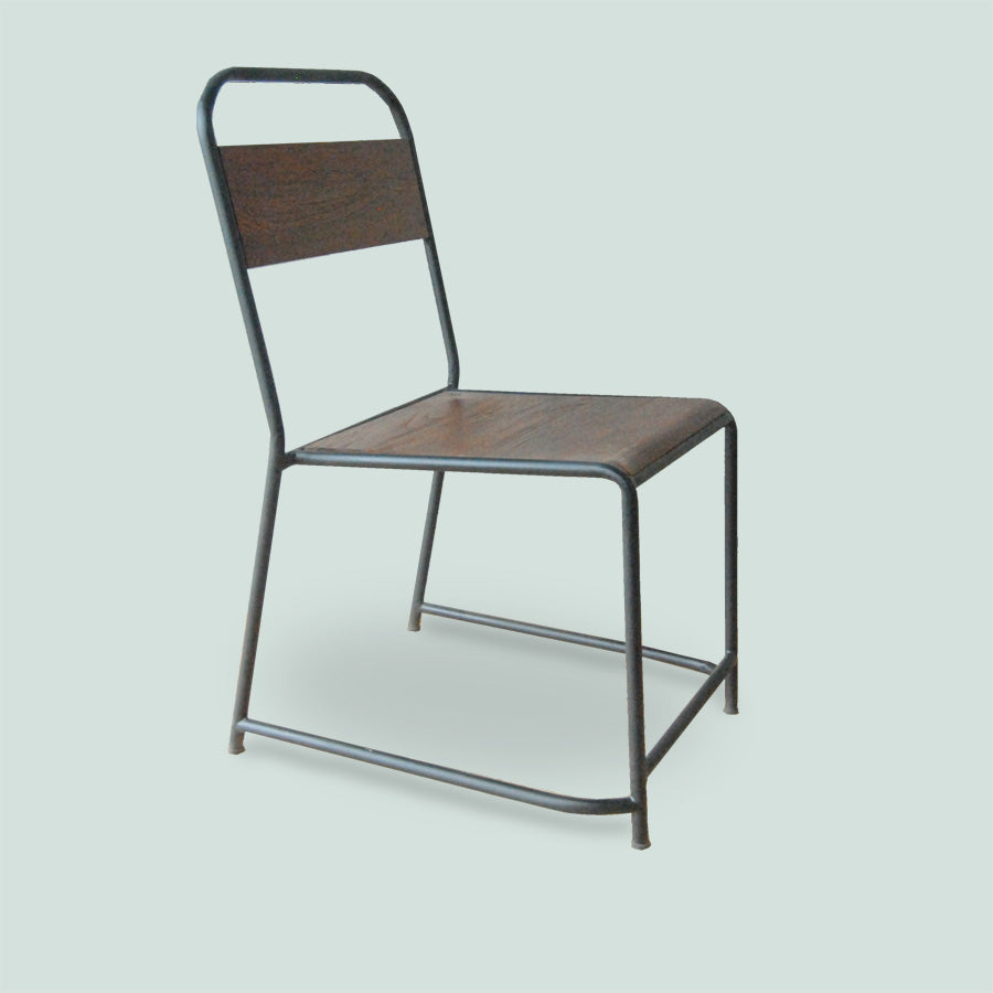 RIVERA R.Teakwood Dining Chair w/ Metal Frame