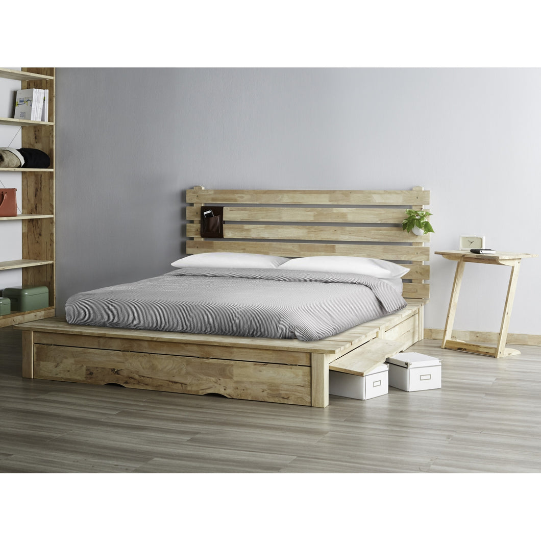 Zen Platform Wooden Bed Big Brain