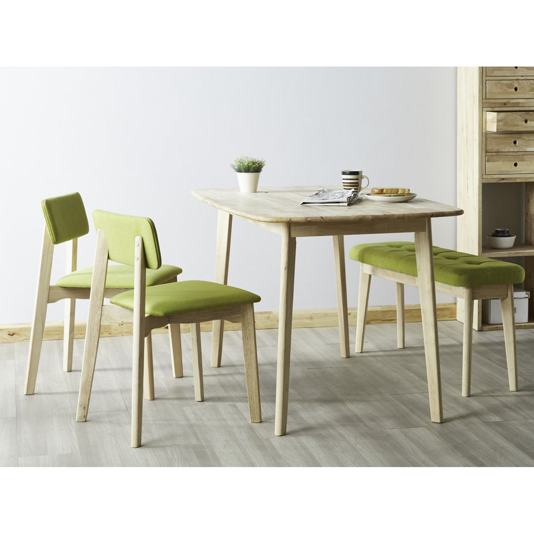 HOCKEY 4pcs Dining Set (Table + Bench + 2x Chair)